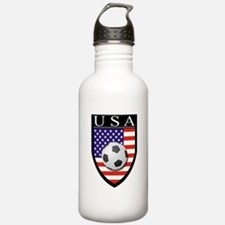 USA Soccer Patch Water Bottle