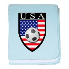 USA Soccer Patch baby blanket