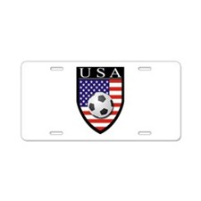 USA Soccer Patch Aluminum License Plate