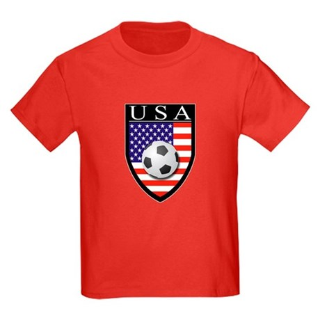 USA Soccer Patch Kids Dark T-Shirt