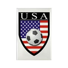 USA Soccer Patch Rectangle Magnet