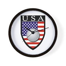 USA Golf Patch Wall Clock