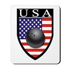 USA Bowling Patch Mousepad