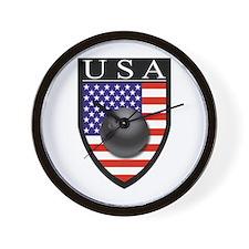 USA Bowling Patch Wall Clock