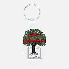 Genealogist Aluminum Oval Keychain