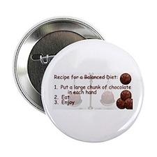 "Chocolate Balanced Diet 2.25"" Button (10 pack)"