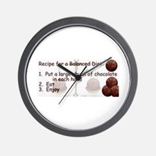 Chocolate Balanced Diet Wall Clock