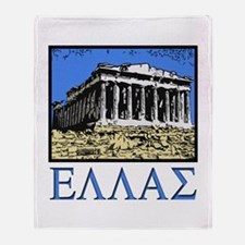 Greece - Acropolis Throw Blanket