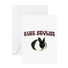 HARE WE GO Greeting Card