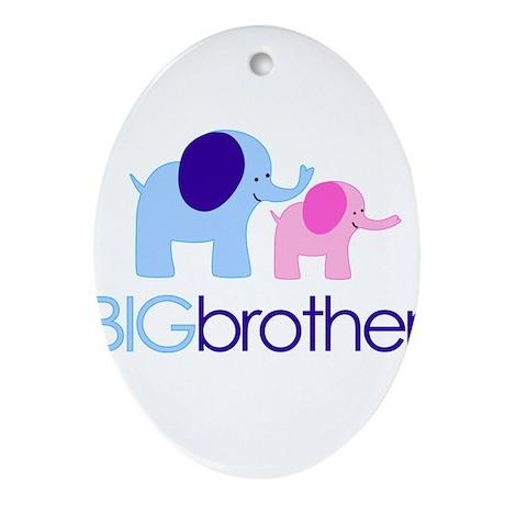 Big Brother Elephant Ornament (Oval)