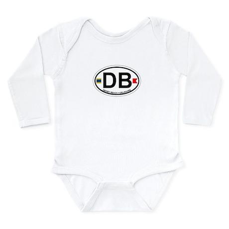 Dewey Beach DE - Oval Design Long Sleeve Infant Bo