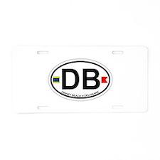 Dewey Beach DE - Oval Design Aluminum License Plat