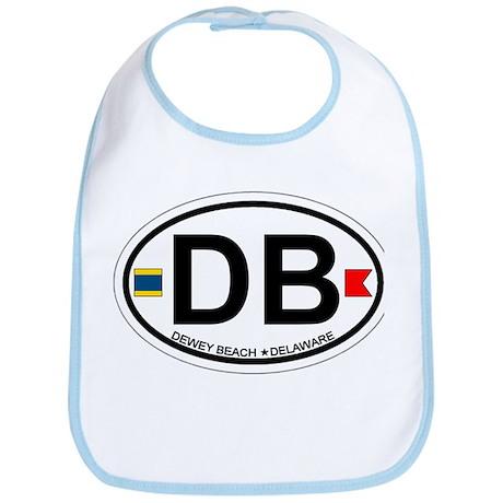 Dewey Beach DE - Oval Design Bib