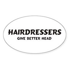 Hairdressers Oval Decal