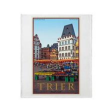 Trier Hauptmarkt Throw Blanket