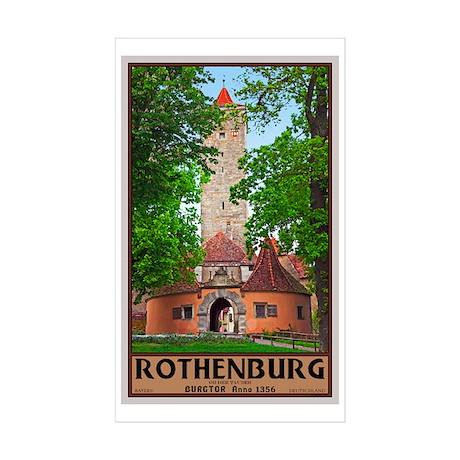 Rothenburg Burgtor Sticker (Rectangle 50 pk)