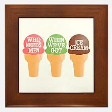 Who needs men? Framed Tile