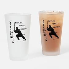 """Grammar Ninja"" Drinking Glass"