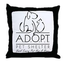 A.D.O.P.T. Pet Shelter Throw Pillow