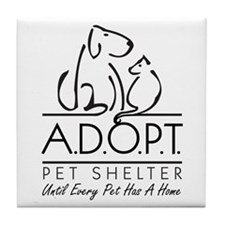 A.D.O.P.T. Pet Shelter Tile Coaster