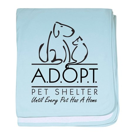 A.D.O.P.T. Pet Shelter baby blanket
