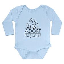 A.D.O.P.T. Pet Shelter Long Sleeve Infant Bodysuit
