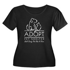 A.D.O.P.T. Women's + Size Scoop Neck Dark T-Shirt