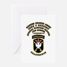 SOF - USAJFKSWCS SSI with Text Greeting Card