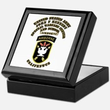 SOF - USAJFKSWCS SSI with Text Keepsake Box