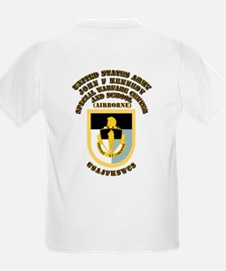 SOF - USAJFKSWCS SSI with Text T-Shirt