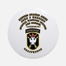 SOF - USAJFKSWCS SSI with Text Ornament (Round)