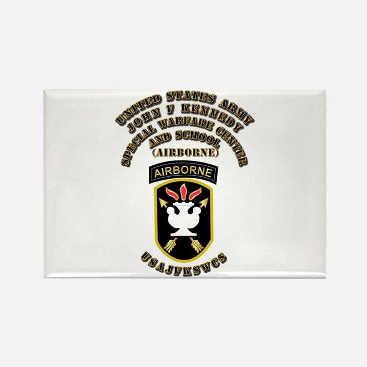 SOF - USAJFKSWCS SSI with Text Rectangle Magnet