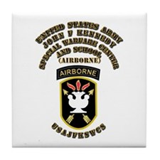 SOF - USAJFKSWCS SSI with Text Tile Coaster