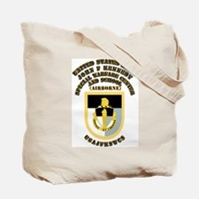 SOF - USAJFKSWCS SSI with Text Tote Bag