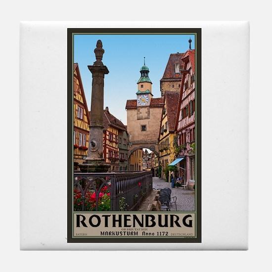 Rothenburg Markusturm Tile Coaster
