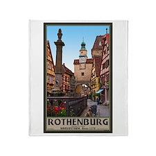 Rothenburg Markusturm Throw Blanket