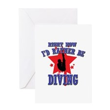 Diving Gift Designs Greeting Card