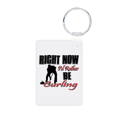Curling Gift Designs Aluminum Photo Keychain