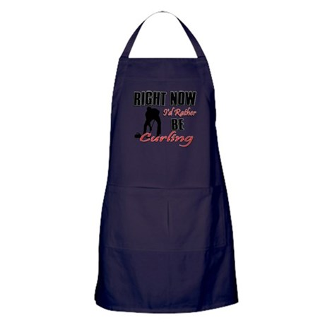 Curling Gift Designs Apron (dark)