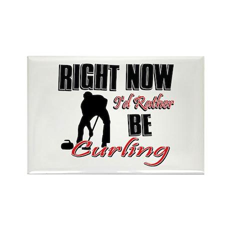 Curling Gift Designs Rectangle Magnet (100 pack)
