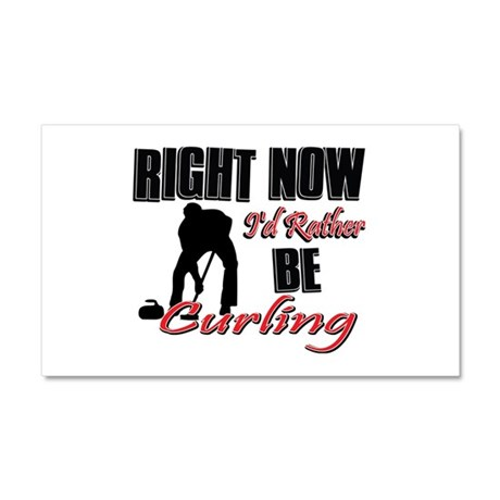 Curling Gift Designs Car Magnet 20 x 12