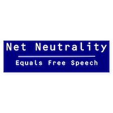 Net Neutrality = Free Speech (Bumper)