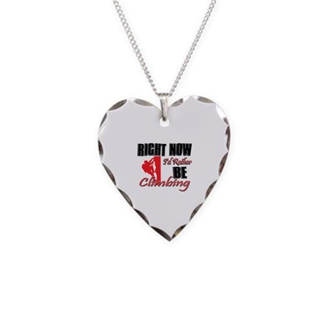 Climbing Gift Designs Necklace Heart Charm