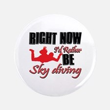 """Sky diving Gift Designs 3.5"""" Button"""