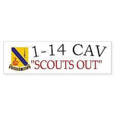 1st Squadron 14th Cavalry Bumper Sticker
