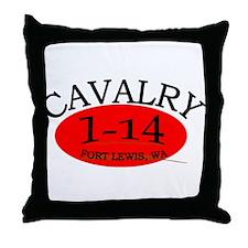 1st Squadron 14th Cavalry Throw Pillow