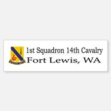 1st Squadron 14th Cavalry Bumper Bumper Sticker