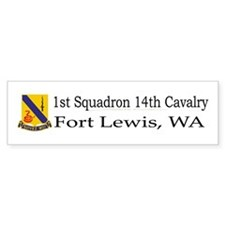 1st Squadron 14th Cavalry Car Sticker