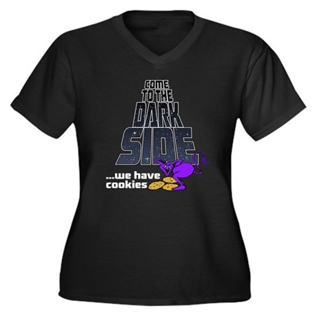 Come To The Dark Side Women's Plus Size V-Neck Dar