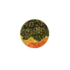 Brook Trout Fly Fishing Mini Button